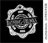 bathing trunks chalkboard...   Shutterstock .eps vector #1198319338