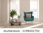 white room with armchair and... | Shutterstock . vector #1198331752