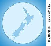 map of new zealand | Shutterstock .eps vector #1198334152