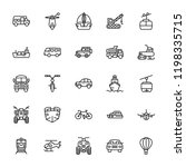 transport line vector icons  | Shutterstock .eps vector #1198335715