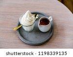 espresso affogato ice cream. | Shutterstock . vector #1198339135