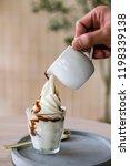 espresso affogato ice cream. | Shutterstock . vector #1198339138
