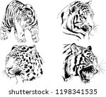 set of vector drawings on the... | Shutterstock .eps vector #1198341535