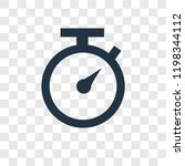 timer vector icon isolated on...