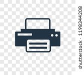 printer vector icon isolated on ...