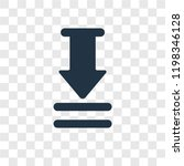 download arrow with bar vector...