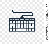 computer keyboard vector icon...