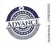 blue advance distressed rubber... | Shutterstock .eps vector #1198350502