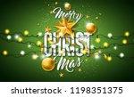 merry christmas illustration... | Shutterstock .eps vector #1198351375