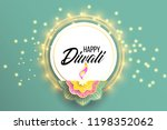 happy diwali. paper graphic of... | Shutterstock .eps vector #1198352062
