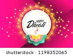 happy diwali. paper graphic of... | Shutterstock .eps vector #1198352065