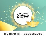 happy diwali. paper graphic of... | Shutterstock .eps vector #1198352068