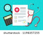 medical health research report... | Shutterstock .eps vector #1198357255