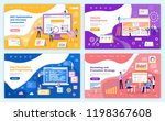 seo optimization increase of... | Shutterstock .eps vector #1198367608