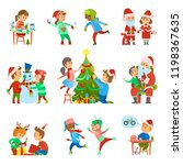 christmas holiday people...   Shutterstock .eps vector #1198367635