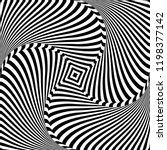 rotation movement illusion.... | Shutterstock .eps vector #1198377142