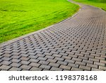 stone path in the park and... | Shutterstock . vector #1198378168