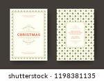 christmas greeting card design... | Shutterstock .eps vector #1198381135
