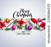 christmas card vector banner... | Shutterstock .eps vector #1198384225