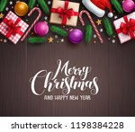 christmas background vector... | Shutterstock .eps vector #1198384228