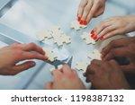 closeup.business partners... | Shutterstock . vector #1198387132