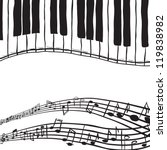 illustration of piano keys and... | Shutterstock . vector #119838982