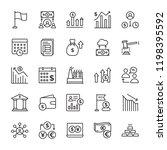 stock market line icons set  | Shutterstock .eps vector #1198395592