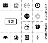 watch icon. collection of 13... | Shutterstock .eps vector #1198399315