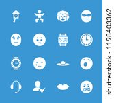 face icon. collection of 16... | Shutterstock .eps vector #1198403362