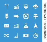 arrow icon. collection of 16... | Shutterstock .eps vector #1198403488