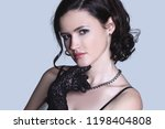 portrait of stylish young woman....   Shutterstock . vector #1198404808