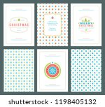 merry christmas greeting cards... | Shutterstock .eps vector #1198405132
