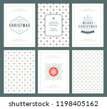 merry christmas greeting cards...   Shutterstock .eps vector #1198405162