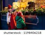 children shopping on... | Shutterstock . vector #1198406218
