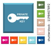 private key white icons on... | Shutterstock .eps vector #1198407892