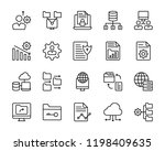 data organization line icons | Shutterstock .eps vector #1198409635