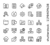 data organization icons pack | Shutterstock .eps vector #1198409638