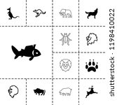 wildlife icon. collection of 13 ... | Shutterstock .eps vector #1198410022