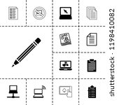 notebook icon. collection of 13 ... | Shutterstock .eps vector #1198410082