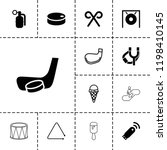 stick icon. collection of 13...   Shutterstock .eps vector #1198410145