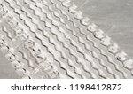 tire tracks on the sand... | Shutterstock . vector #1198412872