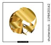 abstract vector golden shape on ...   Shutterstock .eps vector #1198420162