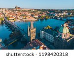 aerial view on sunrise of... | Shutterstock . vector #1198420318
