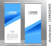 roll up business brochure flyer ... | Shutterstock .eps vector #1198420405