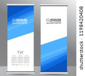 roll up business brochure flyer ... | Shutterstock .eps vector #1198420408