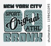 t shirt new york bronx  the... | Shutterstock . vector #1198421095