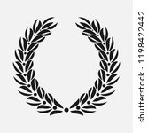icon laurel wreath  spotrs... | Shutterstock . vector #1198422442