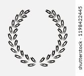 icon laurel wreath  spotrs... | Shutterstock . vector #1198422445