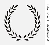 icon laurel wreath  spotrs... | Shutterstock . vector #1198422448