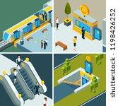 public subway isometric. metro... | Shutterstock .eps vector #1198426252